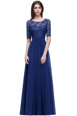 Blaue Abendkleider Lang Günstig | Abiballkleider mit Ärmel_5