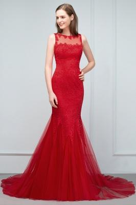Rote Abendkleider mit Spitze | Abiballkleider Lang Günstig_9
