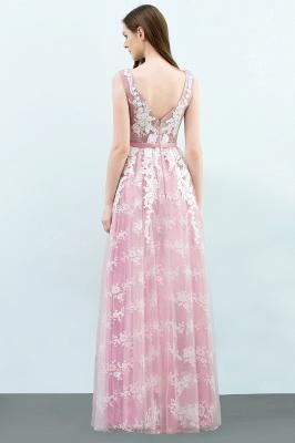Abendkleid Lang Rosa | Abiballkleider mit Spitze_3