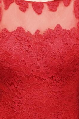 Rote Abendkleider mit Spitze | Abiballkleider Lang Günstig_6