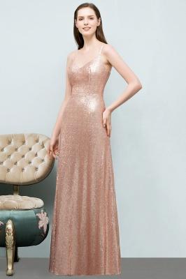 Rosa Gold Abendkleider Lang | Brautjungfernkleider Online_2