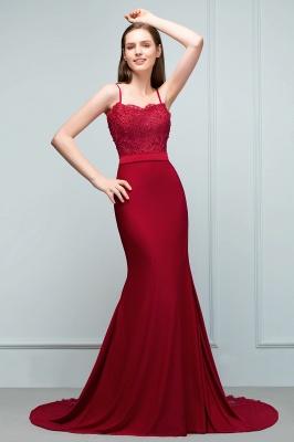 Rote Abendkleider Lang | Abiballkleider mit Spitze_4
