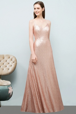 Rosa Gold Abendkleider Lang | Brautjungfernkleider Online_5