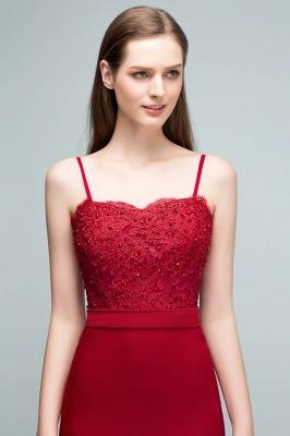 Rote Abendkleider Lang | Abiballkleider mit Spitze_10