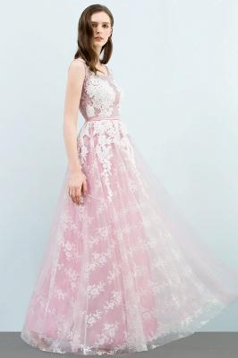 Abendkleid Lang Rosa | Abiballkleider mit Spitze_7