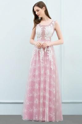Abendkleid Lang Rosa | Abiballkleider mit Spitze_6