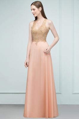 Abendkleider Lang V Ausschnitt   Abiballkleider mit Glitzer_5