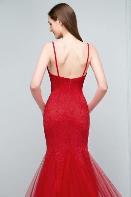 Rote Abendkleider mit Spitze | Abiballkleider Lang Günstig_7