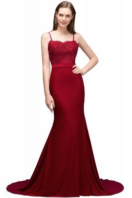 Rote Abendkleider Lang | Abiballkleider mit Spitze_2