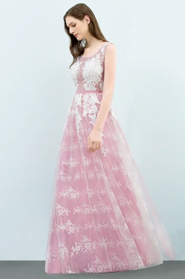Abendkleid Lang Rosa | Abiballkleider mit Spitze_4