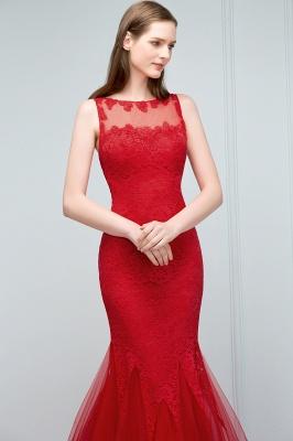 Rote Abendkleider mit Spitze | Abiballkleider Lang Günstig_8