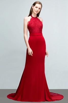 Abendkleider Lang Rot   Abiballkleider Mit Spitze_7
