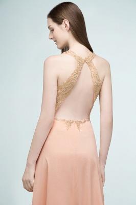 Abendkleider Lang V Ausschnitt   Abiballkleider mit Glitzer_9