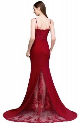 Rote Abendkleider Lang | Abiballkleider mit Spitze_3