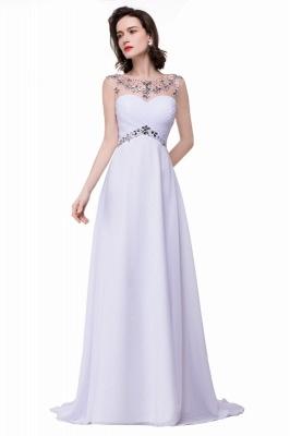Weiße Abendkleider Lang Günstig   Abiballkleider Online_1