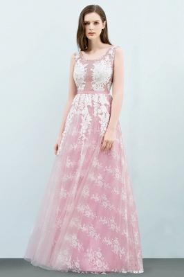 Abendkleid Lang Rosa | Abiballkleider mit Spitze_2