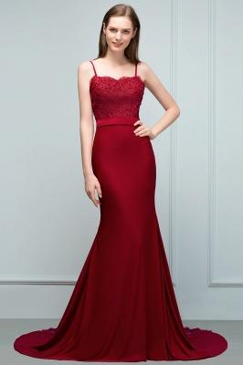Rote Abendkleider Lang | Abiballkleider mit Spitze_6