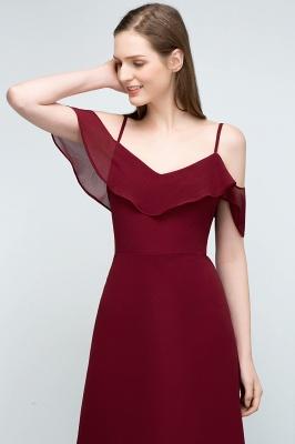 Schlichtes Abendkleid Rot   Festliche kleider Online_12