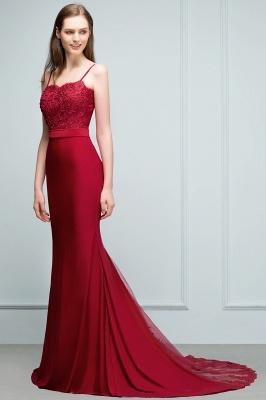 Rote Abendkleider Lang | Abiballkleider mit Spitze_5