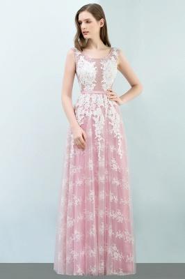 Abendkleid Lang Rosa | Abiballkleider mit Spitze_5