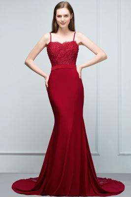 Rote Abendkleider Lang | Abiballkleider mit Spitze_7