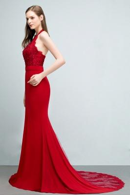 Abendkleider Lang Rot   Abiballkleider Mit Spitze_8