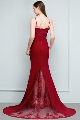 Rote Abendkleider Lang | Abiballkleider mit Spitze_8