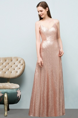Rosa Gold Abendkleider Lang | Brautjungfernkleider Online_8