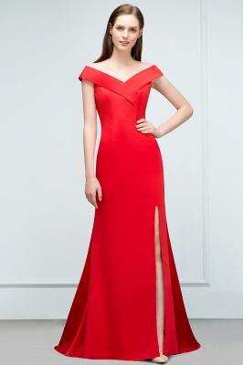Schlichtes Abendkleid Lang Rot | Abendmoden online_1