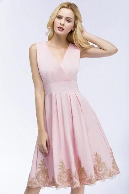 Rosa Cocktailkleider Kurz   Abendkleider mit Spitze_6