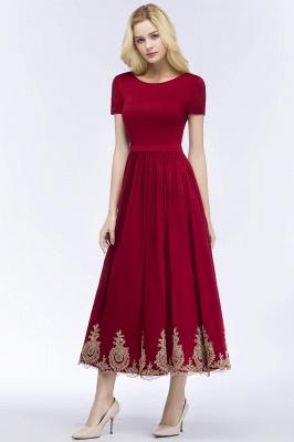 Rote Abendkleider Kurz   Cocktailkleider mit Ärmel_9