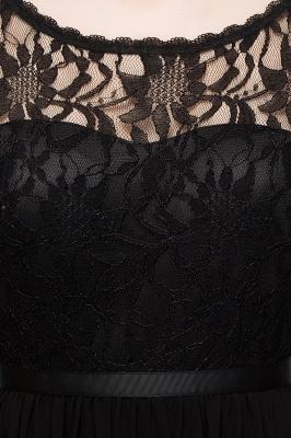 Schlichtes Abendkleid Schwarz | Abiballkleider Cocktailkleider Kurz_11