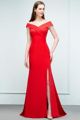 Schlichtes Abendkleid Lang Rot | Abendmoden online_5