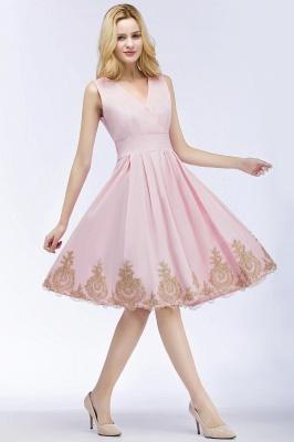 Rosa Cocktailkleider Kurz   Abendkleider mit Spitze_3