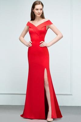Schlichtes Abendkleid Lang Rot | Abendmoden online_4