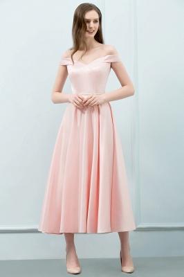 Schlichtes Abendkleid Rosa   Cocktailkleider Kurz_4