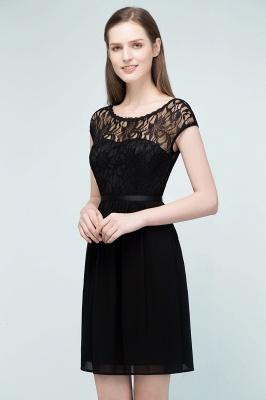 Schlichtes Abendkleid Schwarz | Abiballkleider Cocktailkleider Kurz_2