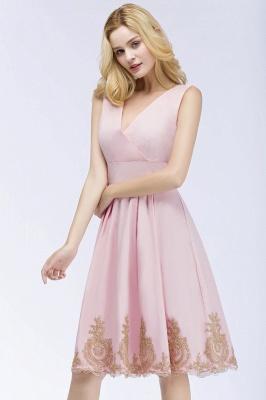 Rosa Cocktailkleider Kurz   Abendkleider mit Spitze_8