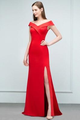 Schlichtes Abendkleid Lang Rot | Abendmoden online_7