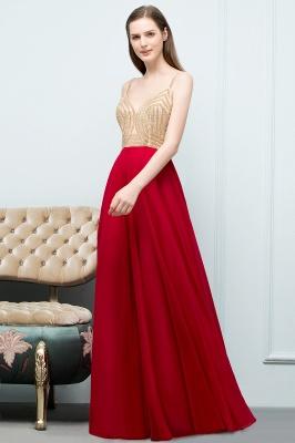 Abiballkleider Günstig Rot   Abendkleid Lang V Ausschnitt_7