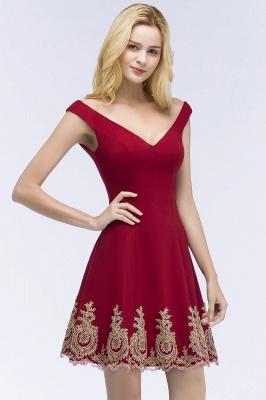 Abendkleider Kurz Weinrot | Cocktailkleider Günstig Online_7