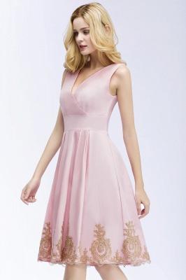 Rosa Cocktailkleider Kurz   Abendkleider mit Spitze_5