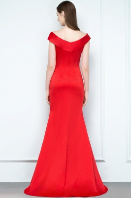 Schlichtes Abendkleid Lang Rot | Abendmoden online_3