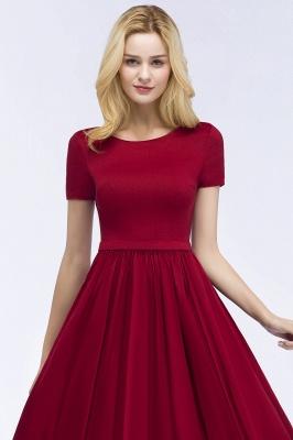 Rote Abendkleider Kurz   Cocktailkleider mit Ärmel_7