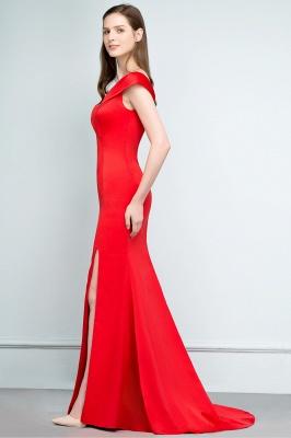 Schlichtes Abendkleid Lang Rot | Abendmoden online_8