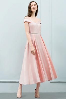 Schlichtes Abendkleid Rosa   Cocktailkleider Kurz_2