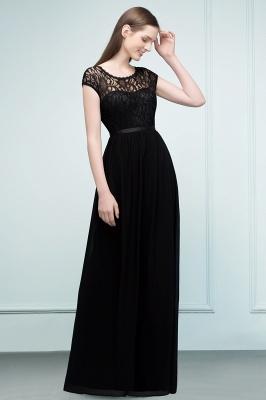Schlichtes Abendkleid Lang Schwarz   Abiballkleider online_7
