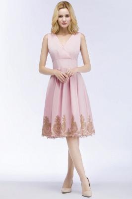 Rosa Cocktailkleider Kurz   Abendkleider mit Spitze_7