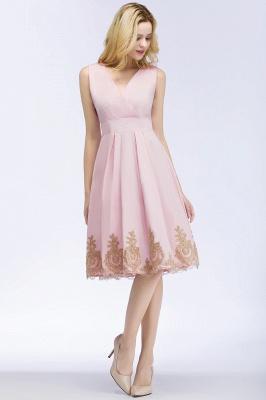 Rosa Cocktailkleider Kurz   Abendkleider mit Spitze_9