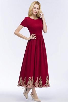 Rote Abendkleider Kurz   Cocktailkleider mit Ärmel_5